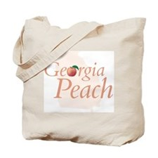 Georgia Peach State Tote Bag