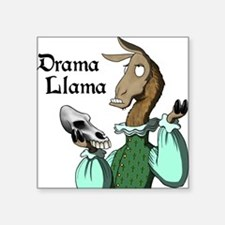 Drama Llama Rectangle Sticker