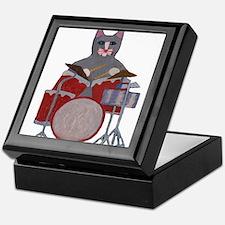 Cat Drummer Keepsake Box