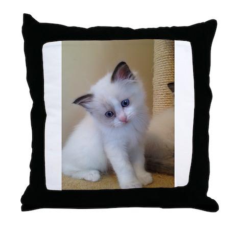 Ragalicious Ragdoll Kitten Throw Pillow