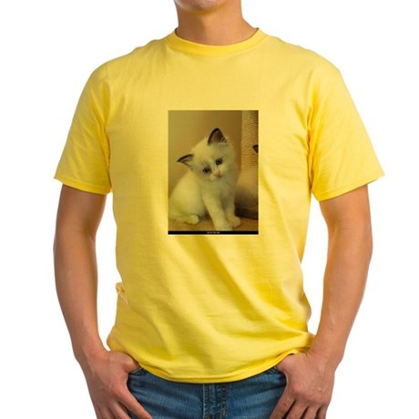 Ragalicious Ragdoll Kitten Yellow T-Shirt