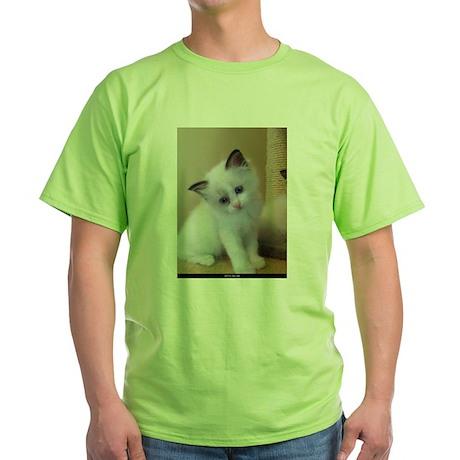 Ragalicious Ragdoll Kitten Green T-Shirt