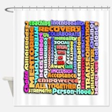 Words of Recovery Shower Curtain
