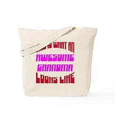 Awesome Grandma Looks Like Tote Bag