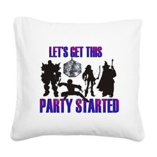 Party Started Square Canvas Pillow