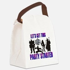 Party Started Canvas Lunch Bag