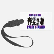 Party Started Luggage Tag