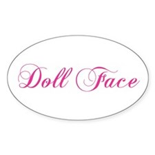 Doll Face Oval Decal