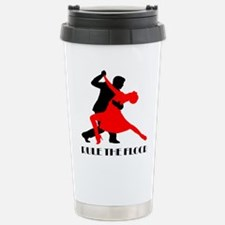 Funny Man and woman dancing Travel Mug