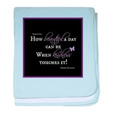 Beautiful Day with Kindness baby blanket