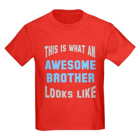 Awesome Brother Looks Like Kids Dark T-Shirt