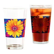 Flower of Welness Drinking Glass