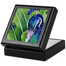 Peacock closeup Keepsake Box