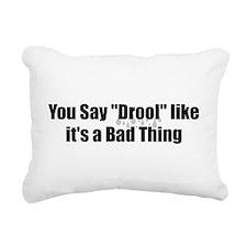Drool Rectangular Canvas Pillow
