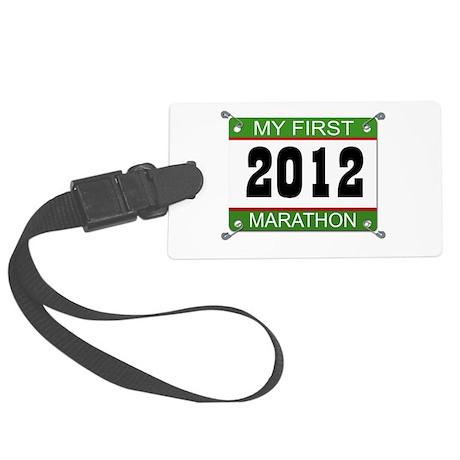 My First Marathon Bib - 2012 Large Luggage Tag