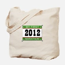 My First Marathon Bib - 2012 Tote Bag