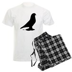 West Pigeon Silhouette Men's Light Pajamas