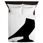 West Pigeon Silhouette Queen Duvet