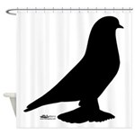 West Pigeon Silhouette Shower Curtain