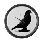 West Pigeon Silhouette Large Wall Clock