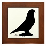West Pigeon Silhouette Framed Tile