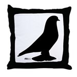 West Pigeon Silhouette Throw Pillow