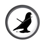West Pigeon Silhouette Wall Clock