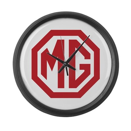 Large Wall Clock with Red MG Octagon