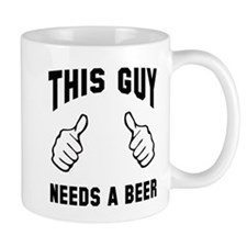 This guy needs a beer Small Mug