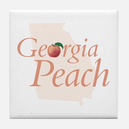 Georgia Peach State Tile Coaster