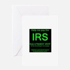 IRS grnOnBlk.PNG Greeting Card