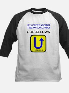 God allows U-turns Kids Baseball Jersey