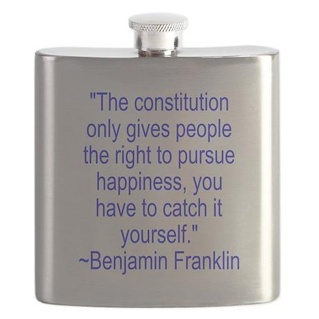 FranklinHappyBlue Flask