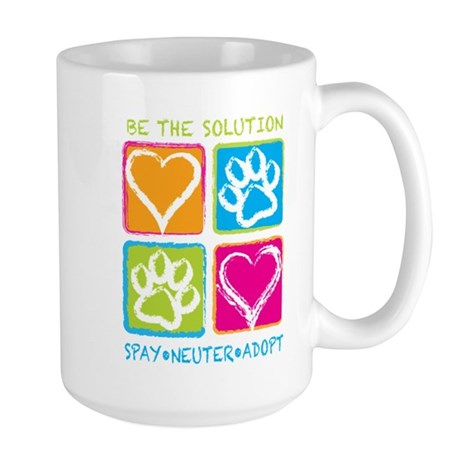 Be The Solution Squares Large Mug