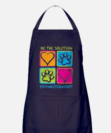 Be The Solution Squares Apron (dark)