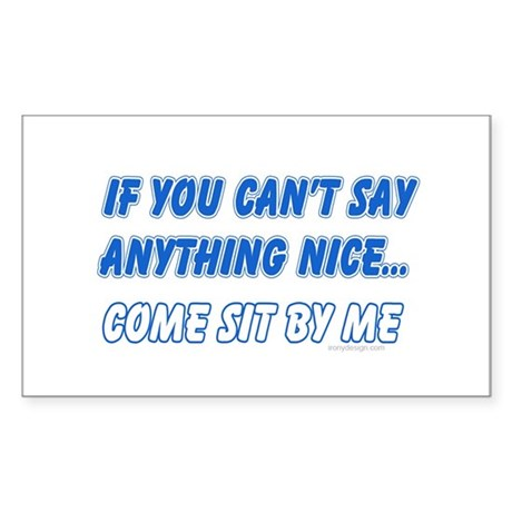 Come Sit By Me Oval Sticker