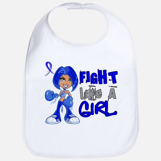 Licensed Fight Like a Girl 42.8 Colon Cancer Bib
