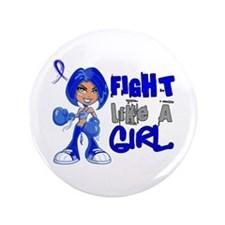"Licensed Fight Like a Girl 42.8 Colon 3.5"" Button"