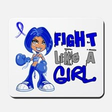 Licensed Fight Like a Girl 42.8 Colon Ca Mousepad
