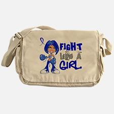 Licensed Fight Like a Girl 42.8 Colo Messenger Bag