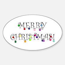 Merry Christmas (O) Decal