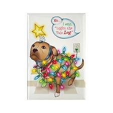 Yule Dog Rectangle Magnet (100 pack)