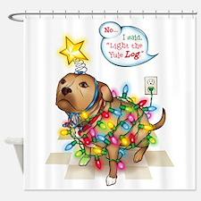 Yule Dog Shower Curtain