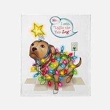 Yule Dog Throw Blanket