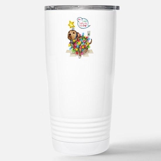 Yule Dog Stainless Steel Travel Mug