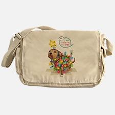 Yule Dog Messenger Bag