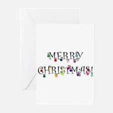 Merry Christmas (O) Greeting Cards (Pk of 20)
