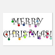 Merry Christmas (O) Postcards (Package of 8)