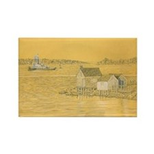 Willard Beach Fishing Shack Rectangle Magnet