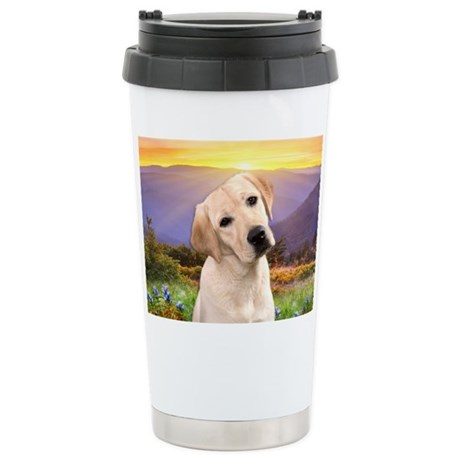 Labrador Meadow Stainless Steel Travel Mug